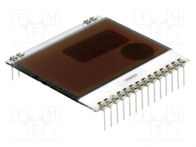 Дисплеи-LCD, OLED, графические Дисплей: LCD; графический; 102x64; FSTN Positive; белый; 39x38,1мм Фото 1.