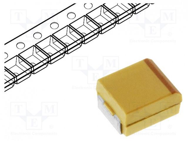 KEMET T491X107K025AT - Capacitor: tantalum