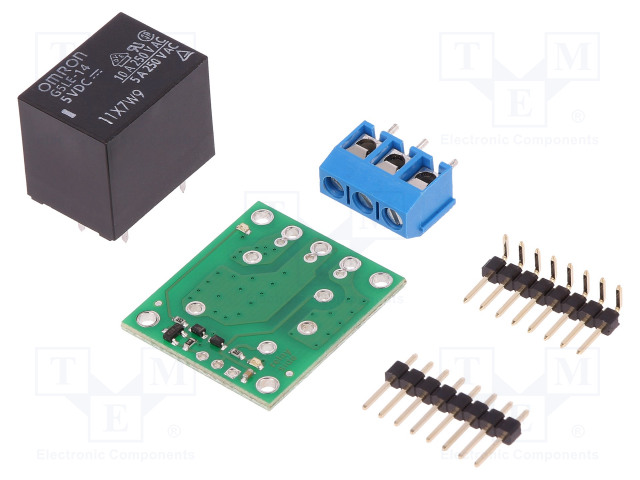 POLOLU SPDT RELAY CARRIER WITH 5VDC RELAY (PART - Modul: relé