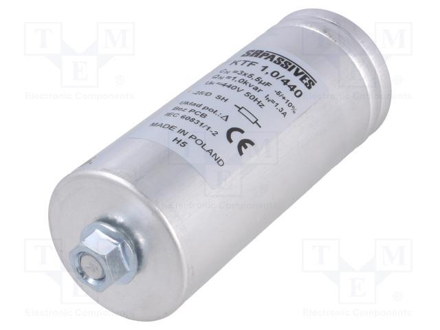 SR PASSIVES KTF-1.0/440 - Kondensaattori: polypropyleeni-