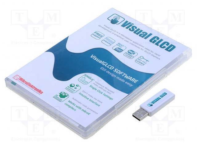 MIKROELEKTRONIKA VISUAL GLCD WITH USB DONGLE LICENSE - Visual GLCD