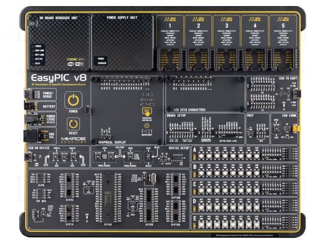 MIKROELEKTRONIKA EASYPIC V8 - Dev.kit: Microchip PIC