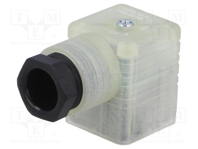 HIRSCHMANN 932336002 GDML 2011 LED 24 HH SCHWARZ - Konektor: pro ventily