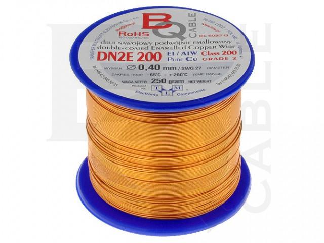 DN2E0.40/0.25 BQ CABLE, Wickeldraht