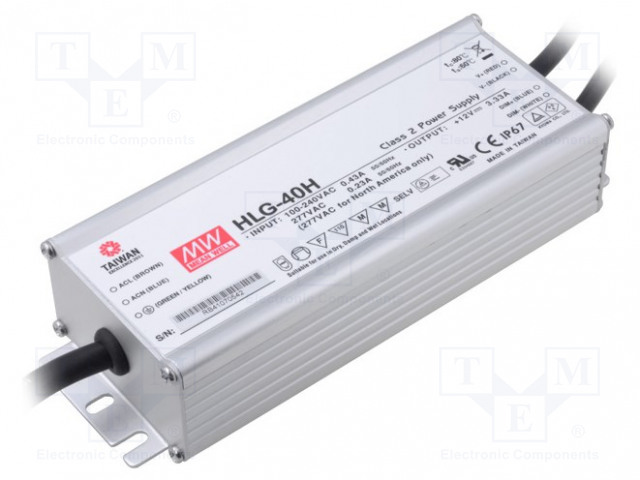 MEAN WELL HLG-40H-54B - Power supply: switched-mode