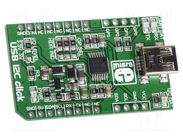 MIKROELEKTRONIKA USB I2C CLICK - Click board