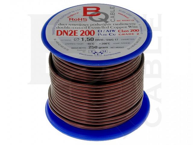 DN2E1.50/0.25 BQ CABLE, Coil wire