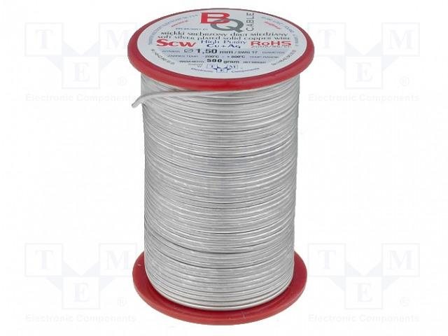 BQ CABLE SCW-0.50/500 - Srebrzony drut miedziany