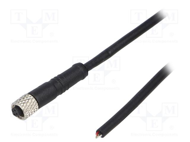 BULGIN PXPTPU05FBF04ACL010PUR - Connector: M5