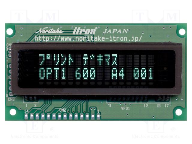 NORITAKE Itron CU16025-UW2J - Display: VFD