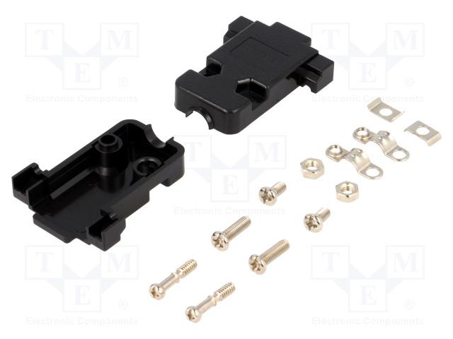 CONNFLY DS1045-09BP1S1 - Kryt: pro konektory D-Sub