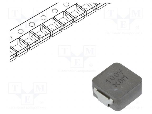 KEMET MPLCV1054L100 - Drossel: Draht