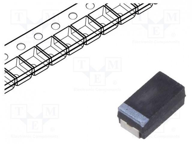 VISHAY 593D686X9016D2TE3 - Kondenzátor: tantalový