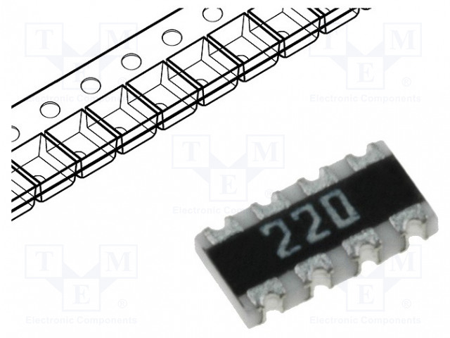 BOURNS CAT16-220J4LF - Resistor network: Y