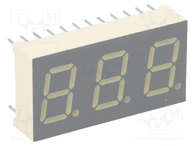 KINGBRIGHT ELECTRONIC BC04-11SEKWA - Displej: LED
