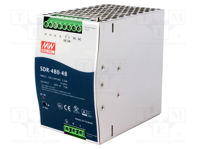 MEAN WELL SDR-480-48 - Netzteil: Impuls