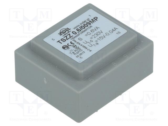 INDEL TSZZ0.6/009MP - Transformer: encapsulated