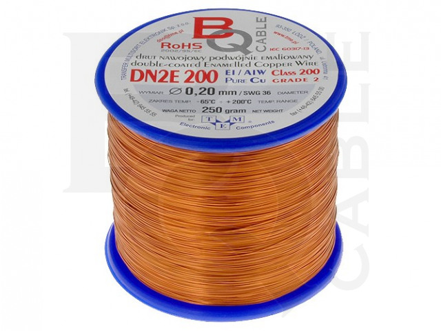 DN2E0.20/0.25 BQ CABLE, Wickeldraht