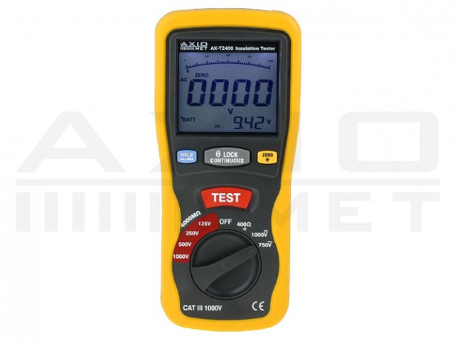 AX-T2400 AXIOMET, Isolationswiderstandsmessgerät