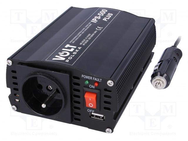 VOLT POLSKA IPS500 PLUS 24V - Měnič: automobilový dc/ac