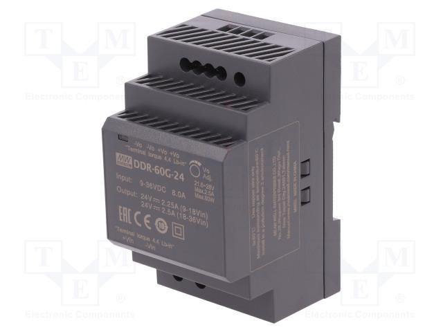 MEAN WELL DDR-60G-24 - Zasilacz: DC/DC