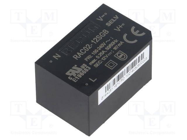 RECOM RAC02-12SGB - Converter: AC/DC