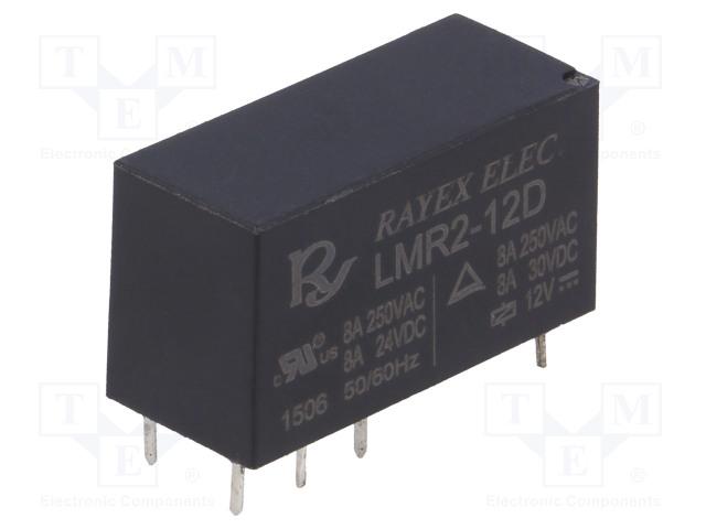 RAYEX ELECTRONICS LMR2-12D - Relé: elektromagnetické