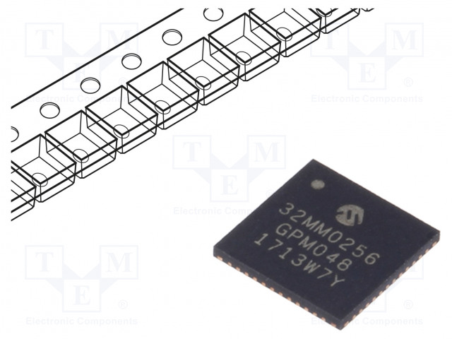 MICROCHIP TECHNOLOGY PIC32MM0256GPM048-I/M4 - PIC-mikro-ohjain