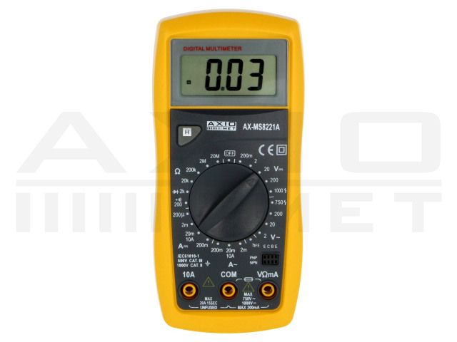 AX-MS8221A AXIOMET, Digital multimeter