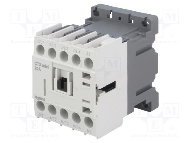 LEGRAND CTX3 MINI 4P 16A 415VAC - Stykač: 4-pólový