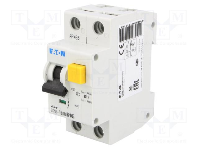 EATON ELECTRIC CKN6-16/1N/B/003 - Дифференциальный автомат (АВДТ)