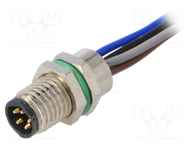 BULGIN PXMBNI08RPM05BFL001 - Connector: M8