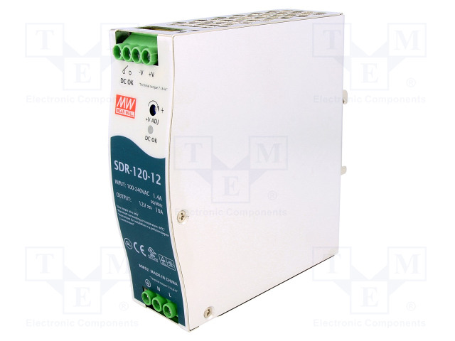 MEAN WELL SDR-120-12 - Power supply: switched-mode