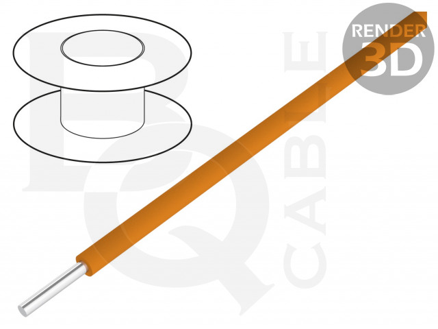 KYNAR-OR/100 BQ CABLE, Vezeték