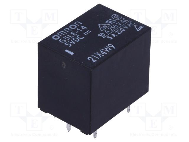 OMRON G5LE-14 5VDC - Relé: elektromagnetické