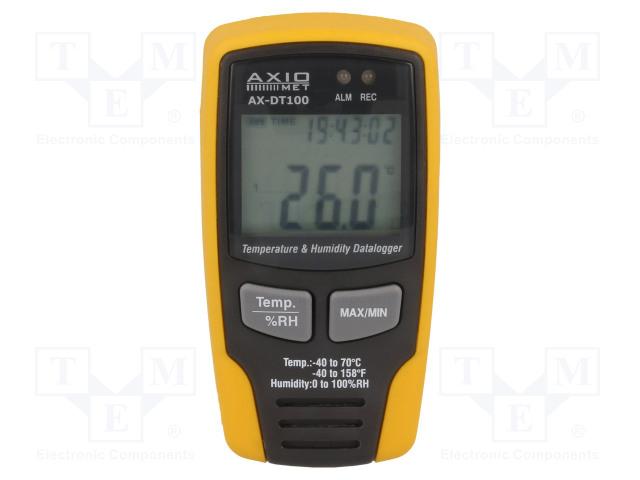 AXIOMET AX-DT100 - Záznamník: teploty a vlhkosti