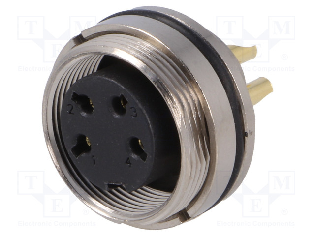 BULGIN PXMBNI16RPF04ASC - Connector: M16