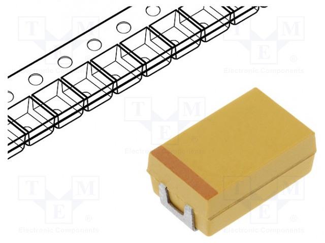 AVX TCJK476M006R0150 - Kondenzátor: polymerový tantalový