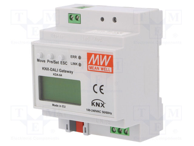 MEAN WELL KDA-64 - Convertitore KNX-DALI
