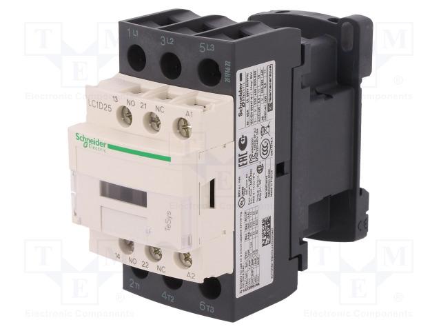 SCHNEIDER ELECTRIC LC1D25U7 - Επαφέας: 3 πόλων