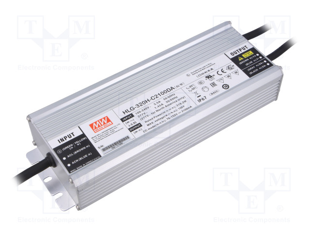 MEAN WELL HLG-320H-C2100DA - Power supply: switched-mode