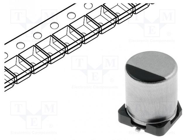 PANASONIC EEEFK1C470UR - Capacitor: electrolytic