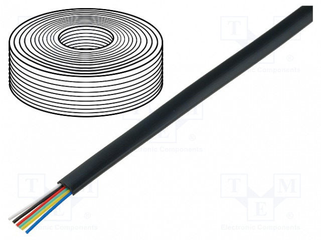 BQ CABLE TEL-0034-500/BK - Wire: telecommunication cable