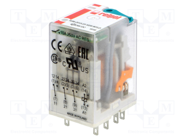 RELPOL R3N-2013-23-1024-WTLD - Relay: electromagnetic