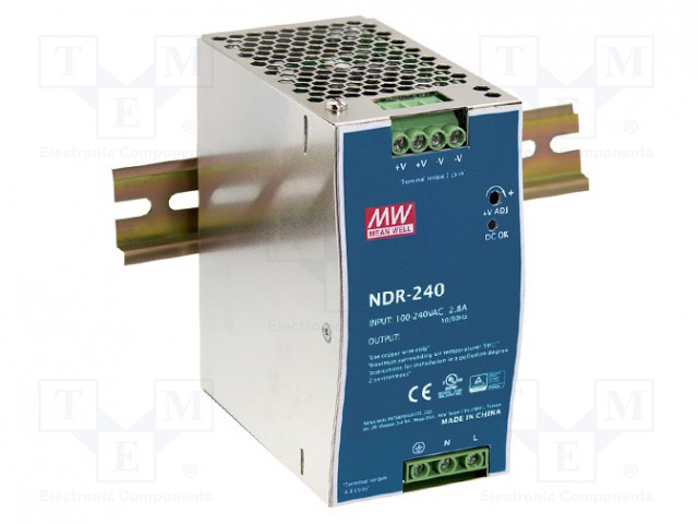 MEAN WELL NDR-240-24 - Power supply: switched-mode