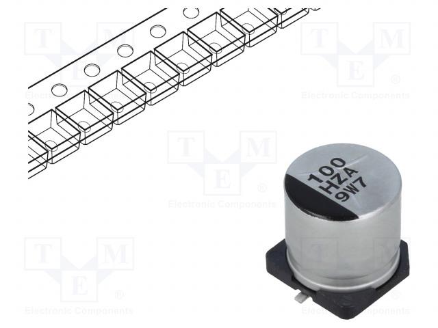 PANASONIC EEHZA1H101P - Capacitor: hybrid
