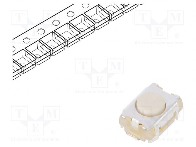 C&K PTS820 J20M SMTR LFS - Mikrospínač TACT