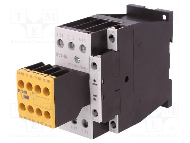 EATON ELECTRIC DILMS25-23(230V50HZ,240V60HZ) - Contactor: 3-pole