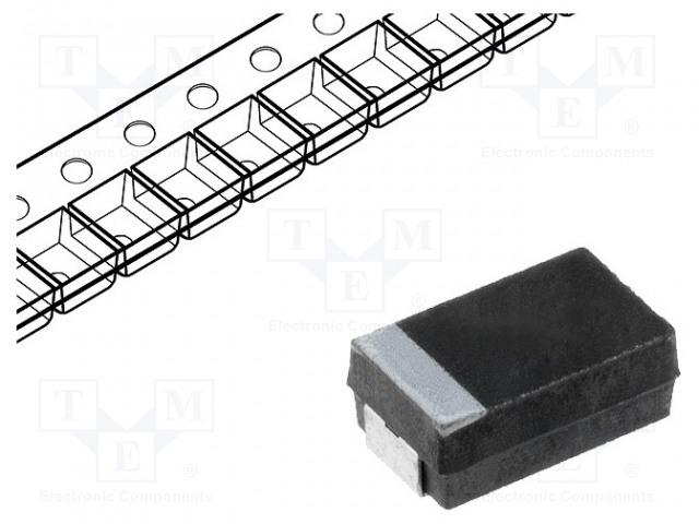 VISHAY 293D105X9050B2TE3 - Kondenzátor: tantalový