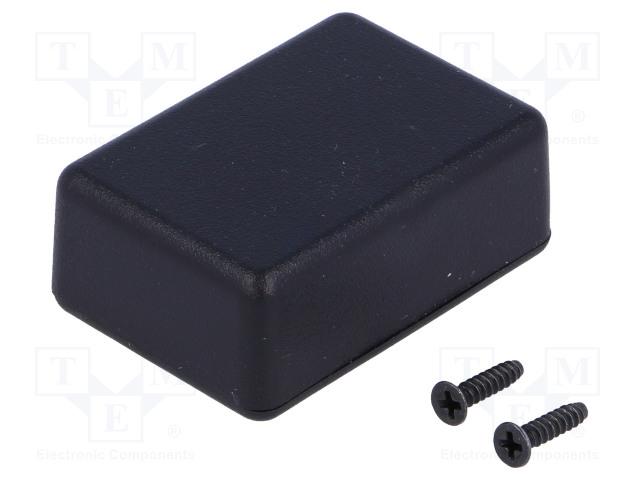 Коробки Корпус: универсальный; Х: 35мм; Y: 50мм; Z: 17мм; 1551; ABS; черный Фото 1.